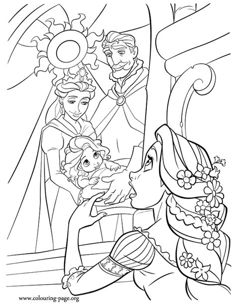 Tangled King Queen Baby Rapunzel And Mother Gothel Baby Rapunzel Coloring Pages