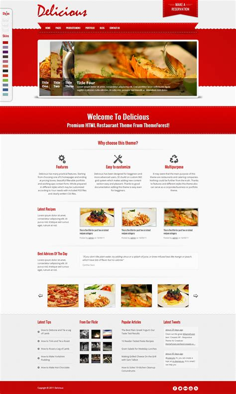 Restaurant Fast Food Takeaway Pizza Website Templates Pizza Website Template