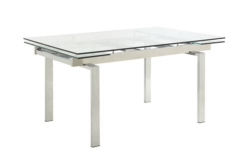 expandable glass dining table coaster wexford rectangular expandable glass dining table