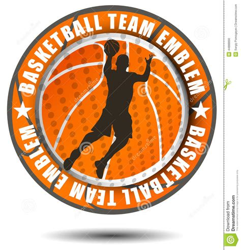 basketball team colors orange color basketball team emblem vector illustration