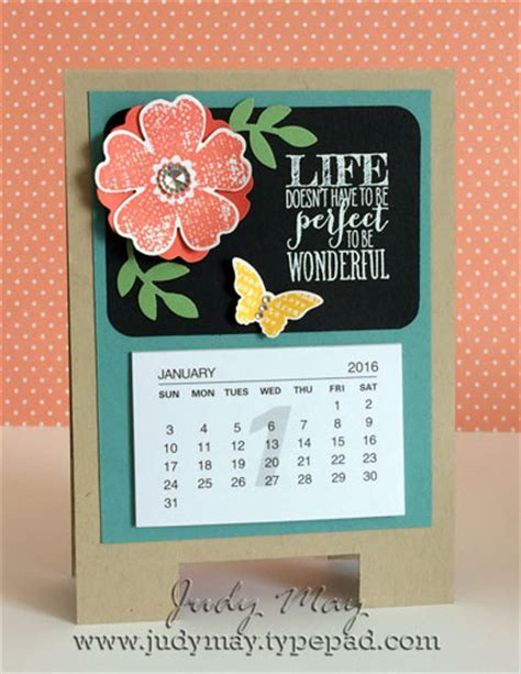 Handmade Calendar Designs - just judy designs 3 d project