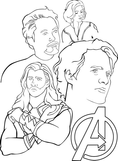 simple avengers coloring pages avengers printable coloring page simple coloring pages