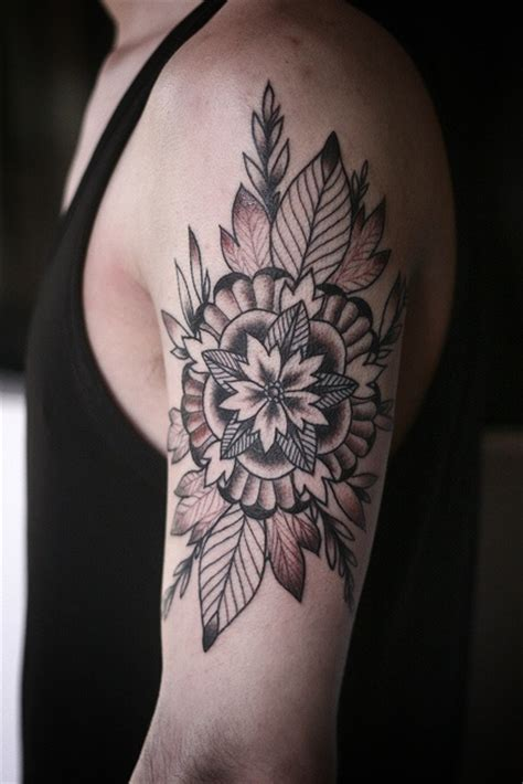 tattoo flower geometric flower mandala geometric tattoo tattoomagz