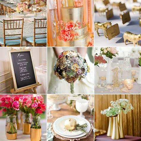 gold wedding decor ideas popsugar home