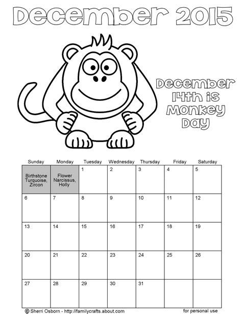 december calendar coloring pages printable december calendar pages holiday favorites