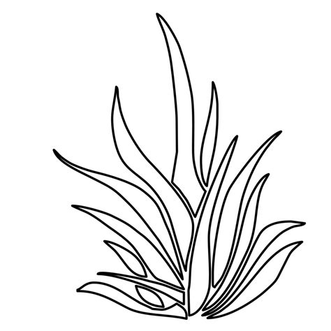 grass clipart coloring page pencil   color grass
