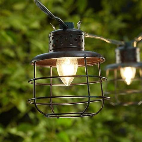 metal string lights metal cage lantern string lights 10 light strand