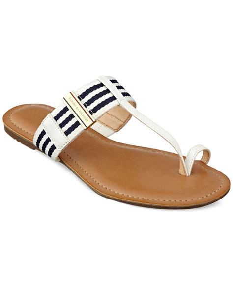 hilfiger sandals hilfiger s lewis sandals in blue lyst