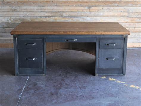 vintage industrial desk chairman desk vintage industrial furniture