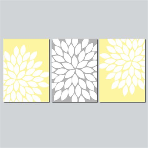 free printable wall art yellow yellow gray wall art bedroom flower pictures canvas or
