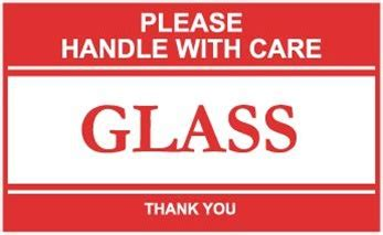 printable glass labels please handle with care glass shipping labels