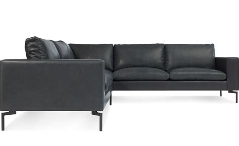 Sofa Leather Sectional New Standard Small Sectional Leather Sofa Hivemodern