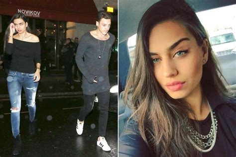 Denies Anything Other Than Friendship by Arsenal Steps Out With Former Miss Turkey Amine Gulse