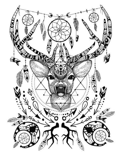 wild   spirit animals printable color page