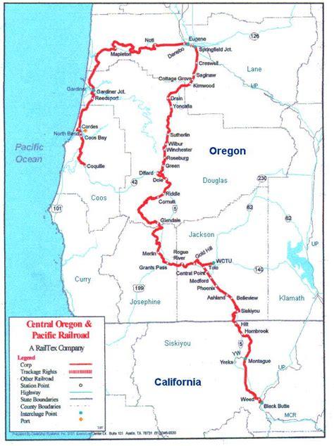 map of oregon railroads maps