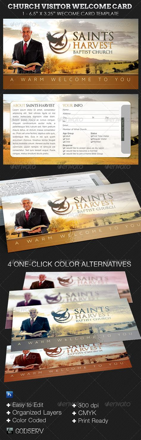 microsoft church visitor s card template church visitor welcome card template on behance