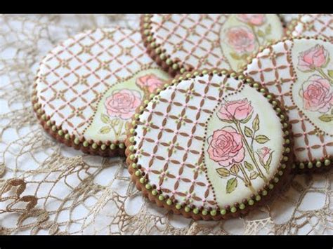 How to Stamp and Stencil a Cookie (aka Rose Lattice Cookie