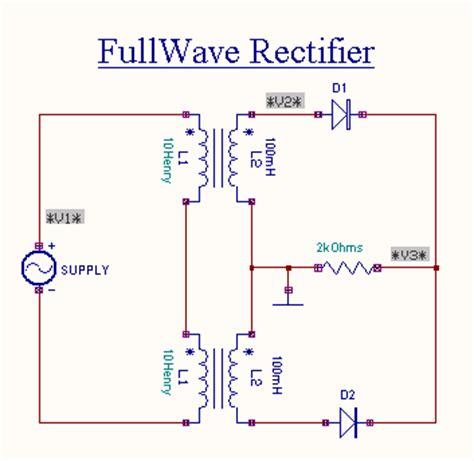 wave rectifier capacitor calculator wave rectifier