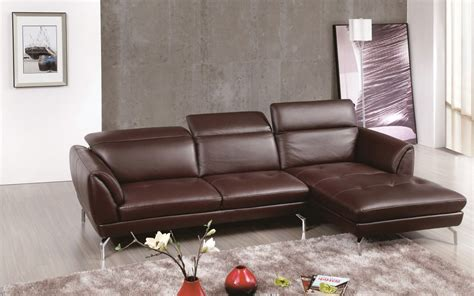 Brown Sectional Sofa With Tufted Seats And Adjustable Sectional Sofas Nashville Tn