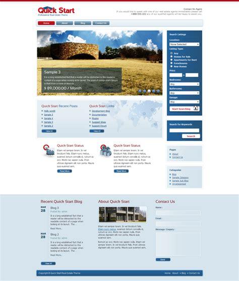 themeforest real estate quickstart real estate wordpress theme themeforest