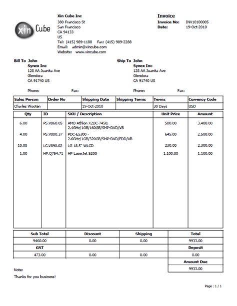bill template pdf quotation template invoice template sle invoice