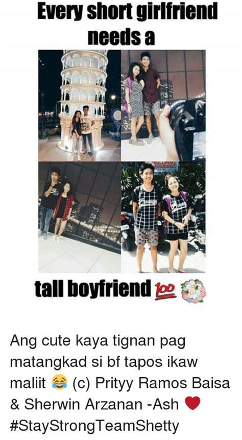 Cute Boyfriend And Girlfriend Memes - every short girlfriend needs a tall boyfriend ang cute
