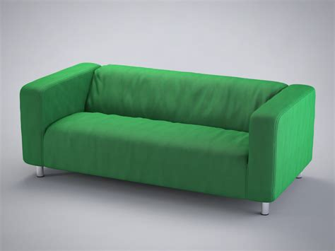 Klippan Sofa Bed 3d Model Loveseat Klippan Ikea