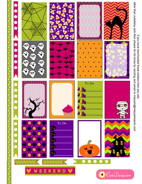 free printable halloween planner stickers free printable halloween planner stickers for happy