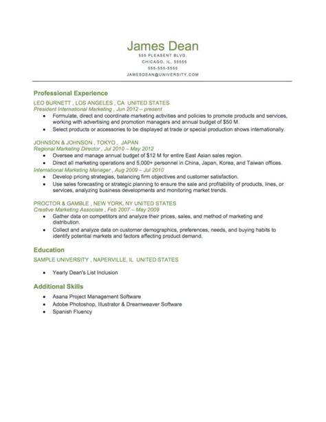 best 25 chronological resume template ideas on