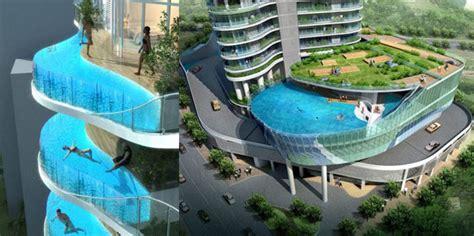 lade da terrazzo suspendidos en el vac 237 o piscinas con paredes de vidrio