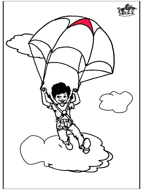 girl in a parachute colouring pages coloring home