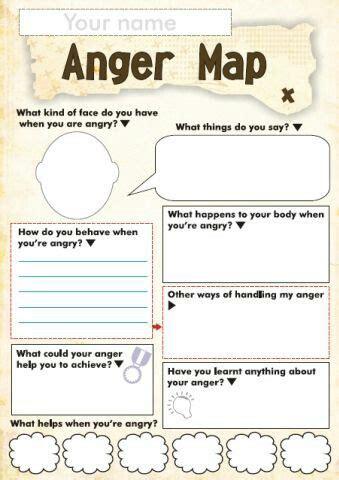 Free Printable Psychology Worksheets by Anger Map Child Psychology Educational Psychology