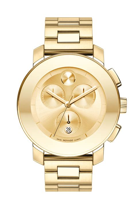 movado bold chronograph bracelet in gold lyst