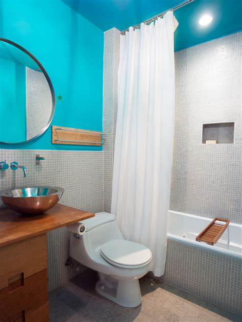 bright blue bathroom accessories modern electric blue bathroom hgtv