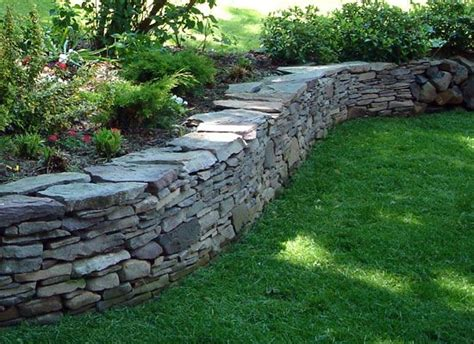 garden wall coping stones pennsylvania bluestone drystack wall this would be
