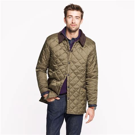 Barbour Quilted Jacket by J Crew Barbour Liddesdale Jacket In Green For Olive