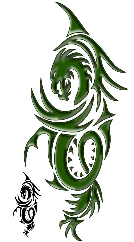 tattoo design color keren png free clipart dragon tattoo snagator