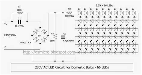 led 230v 230v ac led circuit gsmicro