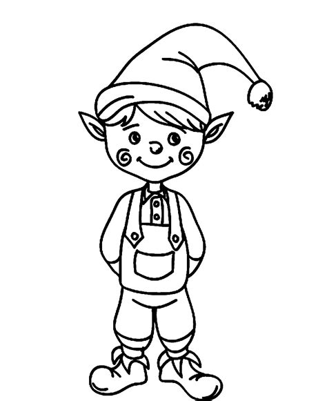 printable elf coloring picture elf coloring pages to download and print for free