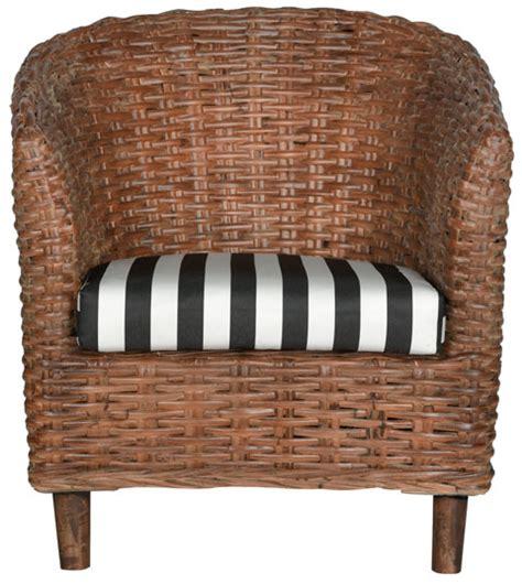 wicker barrel chair rattan barrel chair safavieh