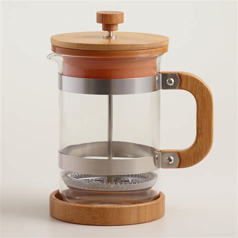 Press Coffee Maker bamboo press coffee maker world market