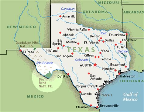texas desert map big bend national park