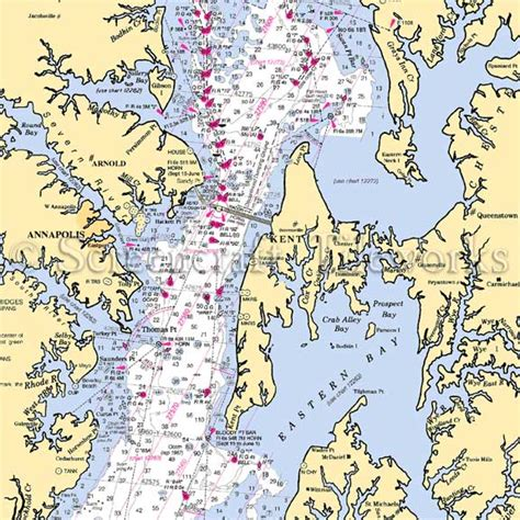 Home Decor Nautical Maryland Arnold Annapolis Nautical Chart Decor