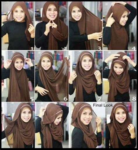 tutorial gambar hijab terbaru cara pakai hijab paris modern terbaru