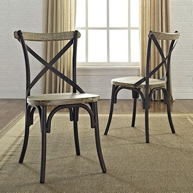 Trendy Dining Chairs Buy Trendy Set Of 2 Reclamation Deluxe Dining Chair By Walker Edison