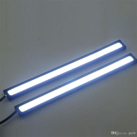 Thin Led Light Strips 20 2 17cm Cob Leds Universal Ultra Thin Digid Led Car Daytime Running Light Drl