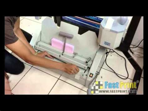 Stempel Timbul Elektrik Electric Emboss St demo mesin staples buat buku booklet maker doovi