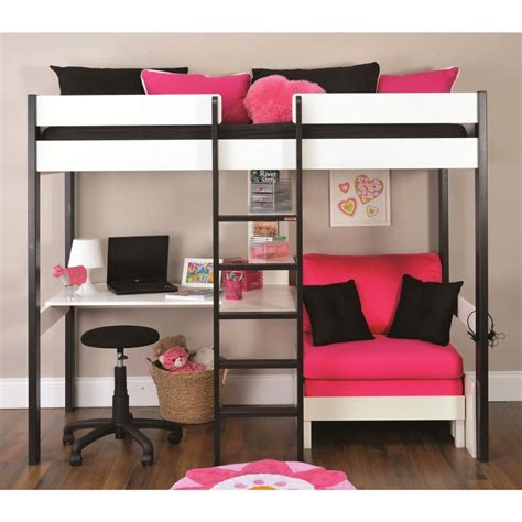 loft bed with desk on top bunk beds with lounge space and desk google search