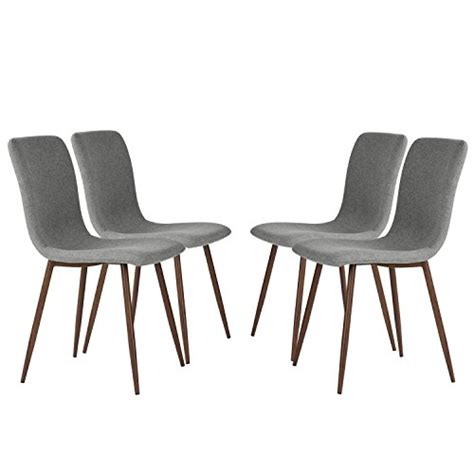 Dining Room Chairs Metal Legs Set Of 4 Dining Chairs Coavas Fabric Cushion Kitchen