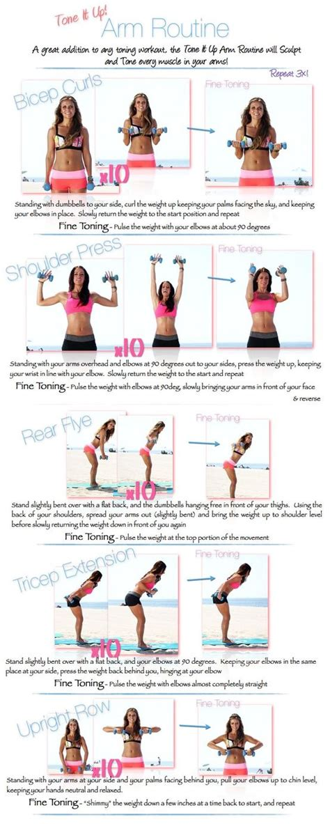 25 best ideas about tone arms workout on arm